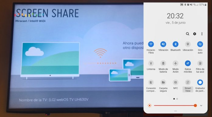 Duplica la pantalla de tu móvil Android en tu Televisión LG Smart TV WebOS con Screen Share